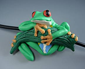 polymer clay tree frog